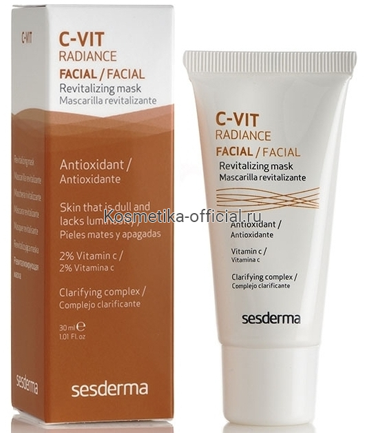 C-Vit Revitalizing Facial Mask Ревитализирующая маска, 30 мл СЕСДЕРМА (SESDERMA)