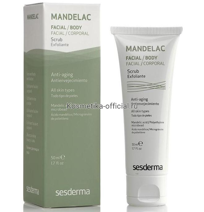Mandelac Scrub Скраб для лица и тела, 50 мл. СЕСДЕРМА (SESDERMA)