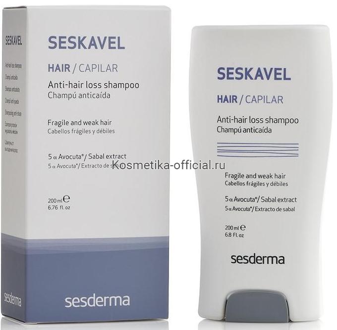 Sesderma Seskavel Anti-hair Loss Shampoo Шампунь от выпадения волос, 200 мл