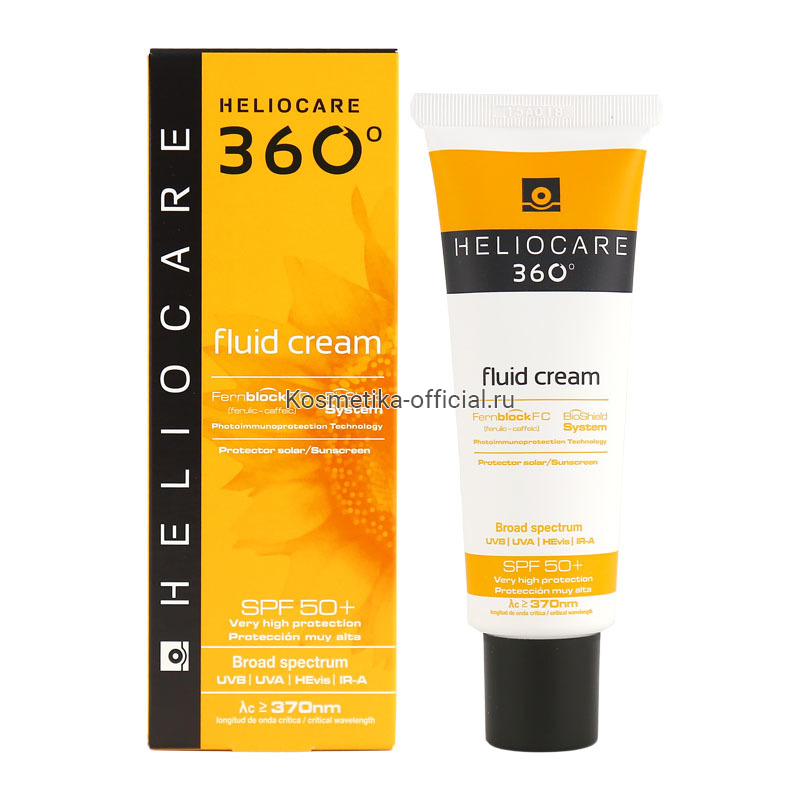 Heliocare 360 Fluid Cream Spf 50+ Sunscreen – Солнцезащитный крем-флюид с Spf 50+ для всех типов кожи