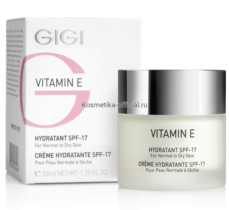 Vitamin E крем увлажняющий для сухой кожи, 50 мл (Gigi)