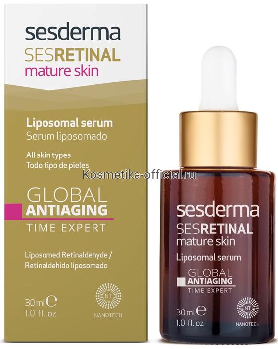 SESRETINAL MATURE SKIN Liposomal serum – Сыворотка «Эксперт времени» липосомальная омолаживающая, 30 мл