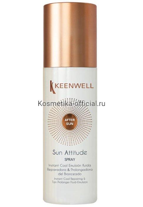Sun Attitude – After-Sun Spray Instant Cool Emulsion Fluida Ultra Reparadora & Potenciadora Del Bronceado (Keenwell) – Мгновенно освежающий регенерирующий лосьон – усилитель загара