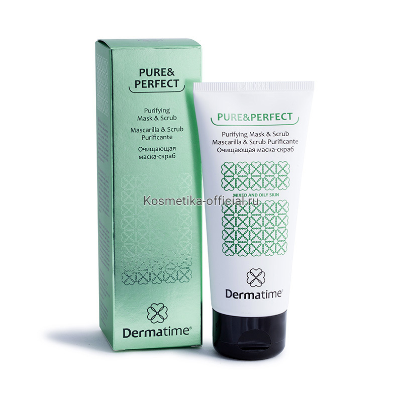 PURE&PERFECT Purifying Mask & Scrub (Dermatime) – Очищающая маска-скраб