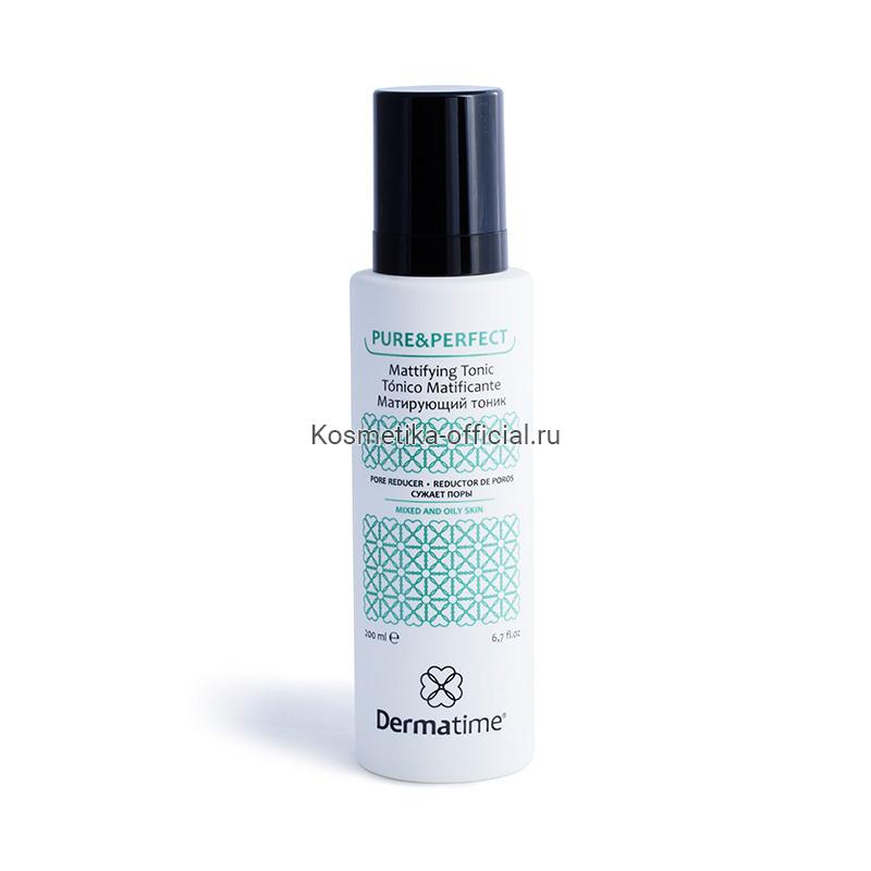 PURE&PERFECT Mattifying Tonic Pore Reducer (Dermatime) – Матирующий тоник / сужает поры, 200 мл