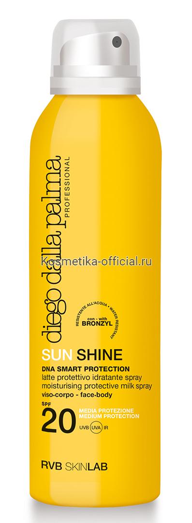 Молочко-спрей 360 градусов SPF 20 / SUN SHINE MOISTURISING PROTECTIVE MILK SPRAY face-body 150 мл