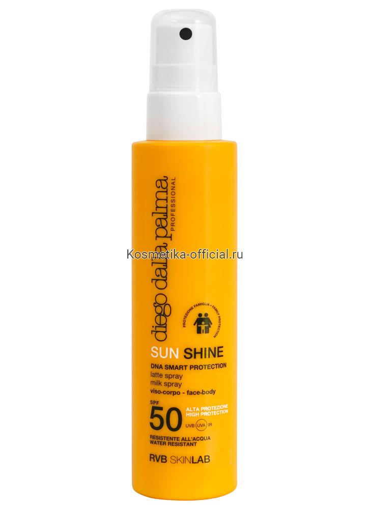 Спрей-молочко для взрослых и детей с 3 лет SPF 50 / SUN SHINE MILK SPRAY face-body FAMILY PROTE 150 мл