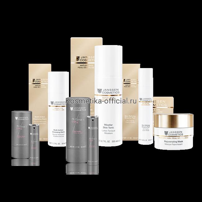 Рекомендованный уход за возрастной кожей PLATINUM Treatment for mature skin PLATINUM