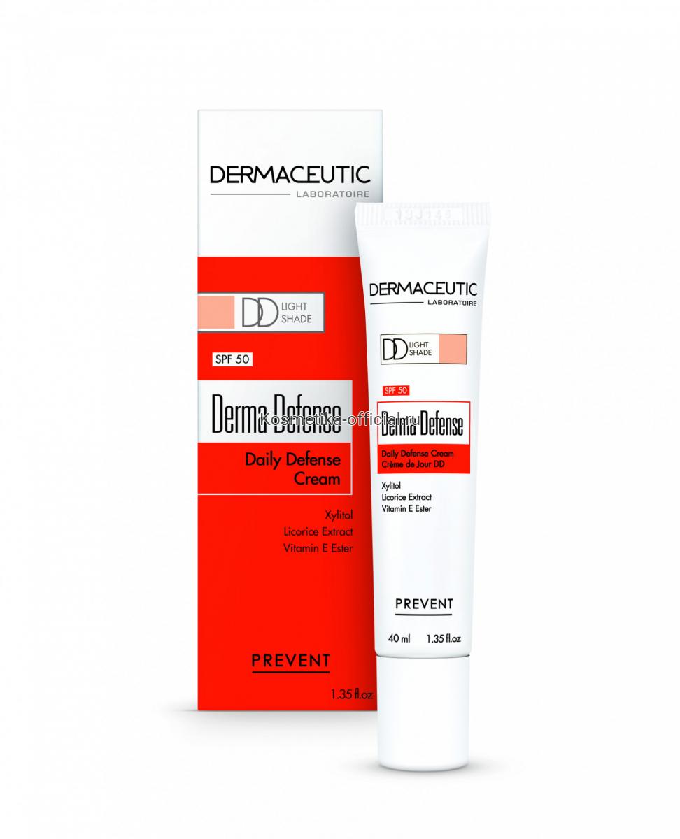 Ежедневный защитный крем средний тон SPF-50 Derma Defense Medium Dermaceutic, 40 мл