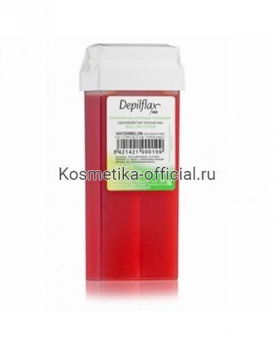 Тёплый воск в картридже Depilflax 100, арбуз 110 гр