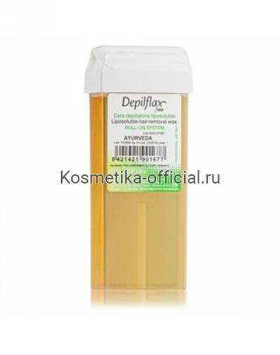Тёплый воск в картридже Depilflax 100, аюрведа 110 гр