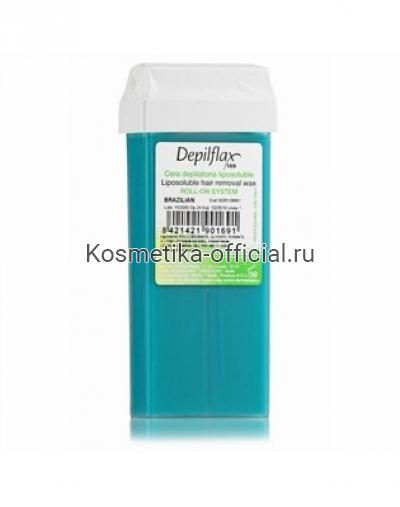 Тёплый воск в картридже Depilflax 100, бразильский 110 гр