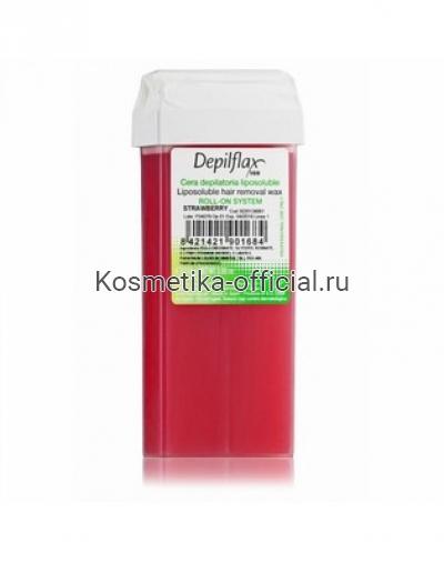 Тёплый воск в картридже Depilflax 100, клубника 110 гр