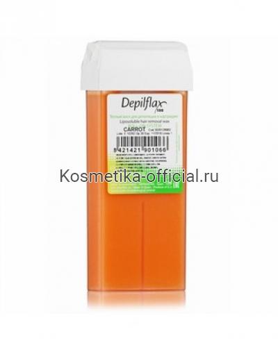 Тёплый воск в картридже Depilflax 100, морковь 110 гр