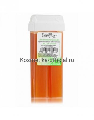 Тёплый воск в картридже Depilflax 100, облепиха 110 гр