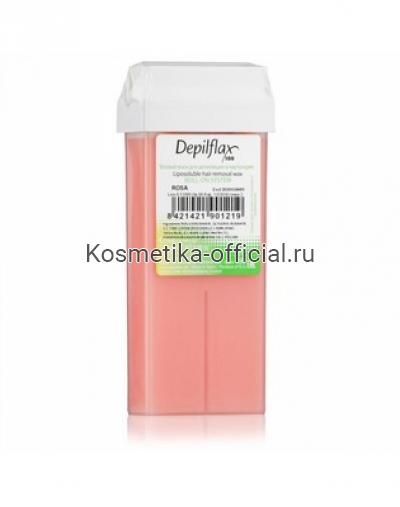 Тёплый воск в картридже Depilflax 100, розовый 110 гр