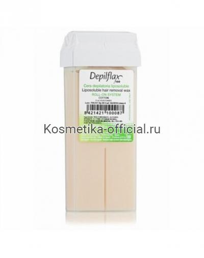 Тёплый воск в картридже Depilflax 100, хлопок 110 гр