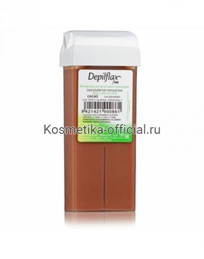 Тёплый воск в картридже Depilflax 100, шоколадный 110 гр
