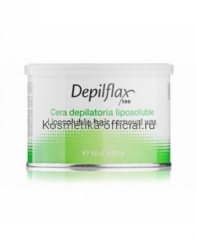 Тёплый воск в банке Depilflax 100, азуленовый 400 мл