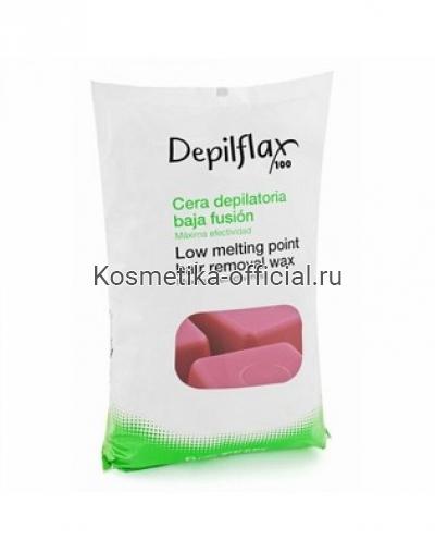 Горячий воск в брикетах Depilflax 100, вино 1000 гр