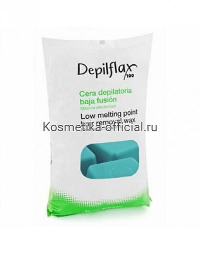 Горячий воск в брикетах Depilflax 100, азуленовый 1000 гр
