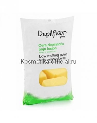 Горячий воск в брикетах Depilflax 100, аргана 1000 гр