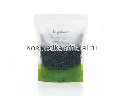 Пленочный воск, синий, Depilflax 100 Blue Film Wax в гранулах 1000 гр