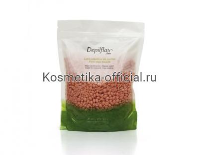 Пленочный воск, розовый, Depilflax 100 Pink Film Wax в гранулах 1000 гр