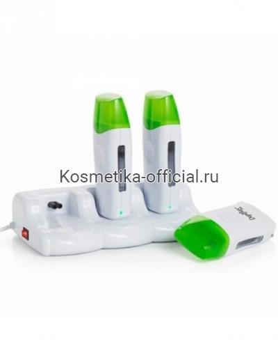 Комплект из 3-х нагревателей для воска в картридже, с базой Depilflax