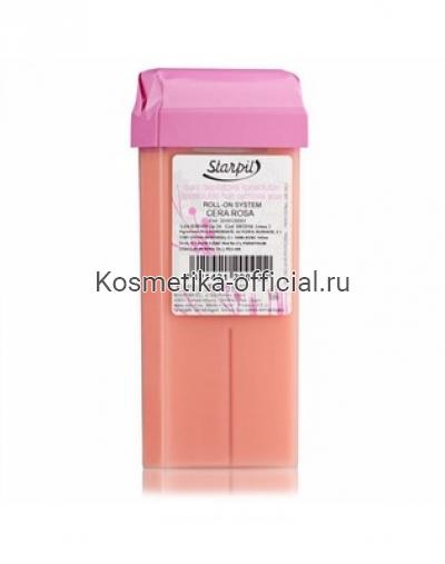 Тёплый воск в картридже Starpil, розовый 110 гр