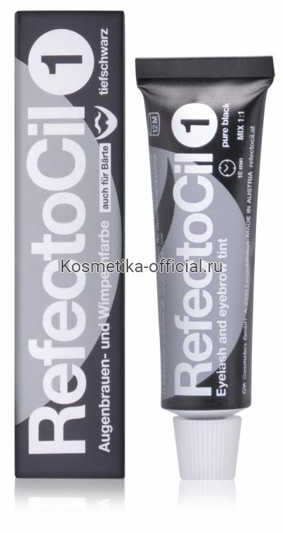 Краска для бровей и ресниц RefectoCil № 1, чёрный, 15 мл