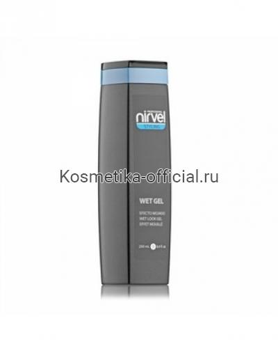 Гель для укладки с эффектом мокрых волос средней фиксации Nirvel Professional Wet Look Gel, 250 мл