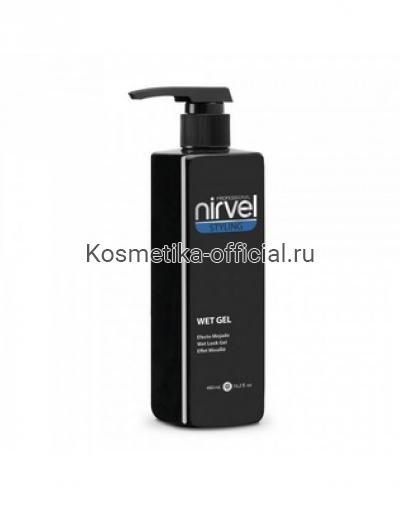 Гель для укладки с эффектом мокрых волос средней фиксации Nirvel Professional Wet Look Gel, 480 мл