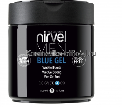 Гель Nirvel Blue Gel для укладки волос сильной фиксации 500 мл
