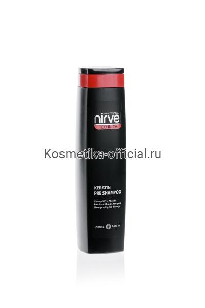 Глубокоочищающий кератиновый шампунь Nirvel Professional Shampoo Pre, 250 мл