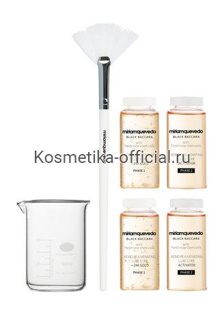 Black Baccara Bond Rejuvenating Luxe Cure - Набор Омолаживающая люкс-терапия для волос с экстрактом розы Блэк Баккара 4х20 мл